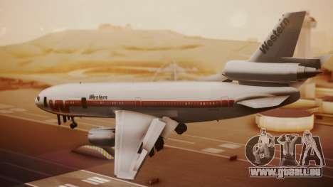 DC-10-10 Western Airlines für GTA San Andreas linke Ansicht
