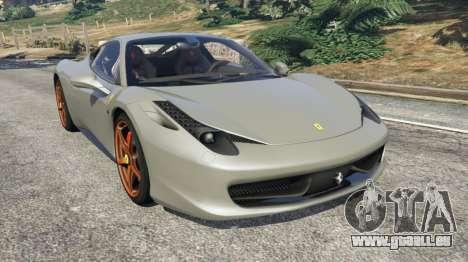 Ferrari 458 Italia 2009 v1.4 pour GTA 5