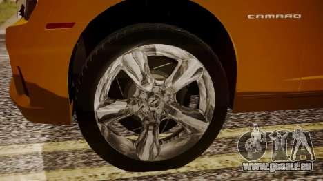 Chevrolet Camaro SS 2015 pour GTA San Andreas sur la vue arrière gauche
