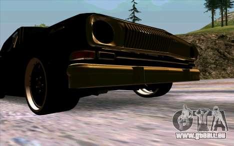 GAZ 24 Volga für GTA San Andreas Innenansicht