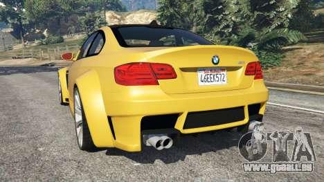 GTA 5 BMW M3 (E92) WideBody v1.1 arrière vue latérale gauche