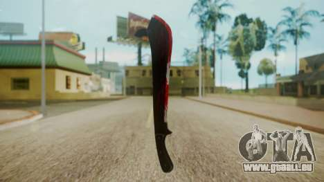 GTA 5 Machete (From Lowider DLC) Bloody für GTA San Andreas zweiten Screenshot