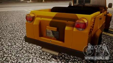 Volkswagen Safari Type 181 für GTA San Andreas Rückansicht