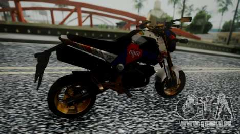 Honda MSX 125C Khmer für GTA San Andreas zurück linke Ansicht