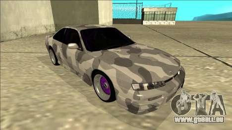 Nissan Silvia S14 Army Drift pour GTA San Andreas laissé vue