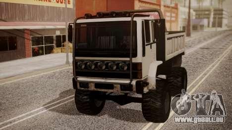 DFT Monster Truck 30 pour GTA San Andreas sur la vue arrière gauche