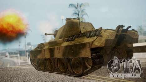 Panzerkampfwagen V Ausf. A Panther pour GTA San Andreas laissé vue