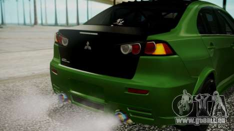 Mitsubishi Lancer Evolution X WBK für GTA San Andreas obere Ansicht