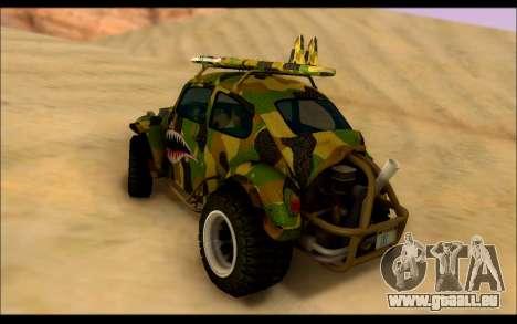 Volkswagen Baja Buggy Camo Shark Mouth pour GTA San Andreas sur la vue arrière gauche