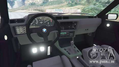 GTA 5 BMW M635 CSI (E24) 1986 droite vue latérale
