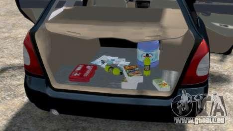 Daewoo Nubira I Spagon 1.8 DOHC 1998 pour GTA 4 vue de dessus