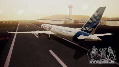 Airbus 350-900XWB Qatar Launch Customer pour GTA San Andreas laissé vue
