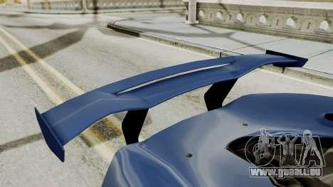 McLaren P1 GTR v1.0 pour GTA San Andreas vue intérieure