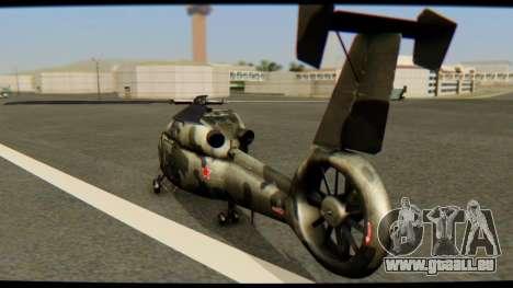 KA 60 l'hirondelle pour GTA San Andreas laissé vue