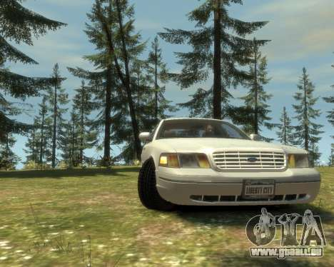 2003 Ford Crown Victoria pour GTA 4 Vue arrière de la gauche