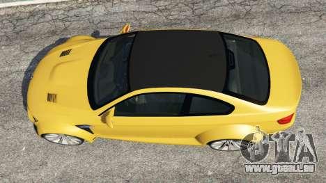 GTA 5 BMW M3 (E92) WideBody v1.1 vue arrière