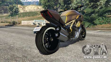 GTA 5 Ducati Diavel Carbon 11 v1.1 droite vue latérale