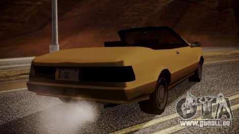 Cadrona Cabrio pour GTA San Andreas laissé vue