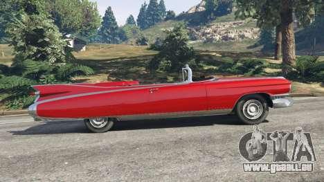 GTA 5 Cadillac Eldorado vue latérale gauche