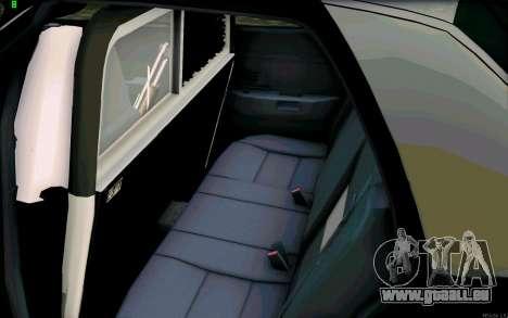 Weathersfield Police Crown Victoria für GTA San Andreas Innenansicht