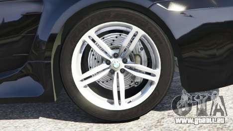 GTA 5 BMW M6 (E63) WideBody v0.1 droite vue latérale