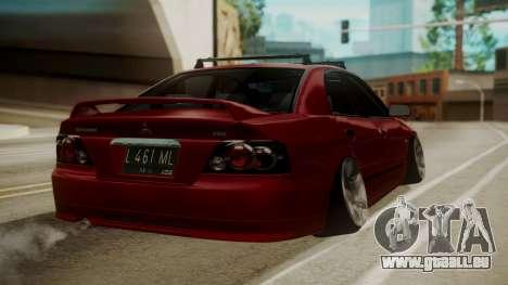 Mitsubishi Galant VR6 Stance pour GTA San Andreas laissé vue