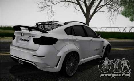 BMW X6M HAMANN Final pour GTA San Andreas vue de droite