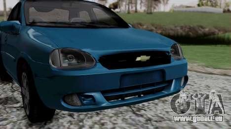 Chevrolet Corsa Classic 2009 v3 pour GTA San Andreas vue intérieure