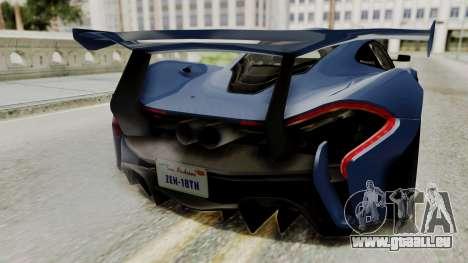 McLaren P1 GTR v1.0 pour GTA San Andreas vue arrière
