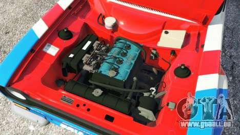 GTA 5 Ford Escort MK1 v1.1 [JE Pistons] arrière droit vue de côté