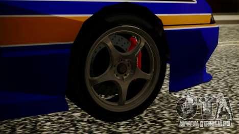 Elegy NR32 with Neon Exclusive PJ pour GTA San Andreas sur la vue arrière gauche