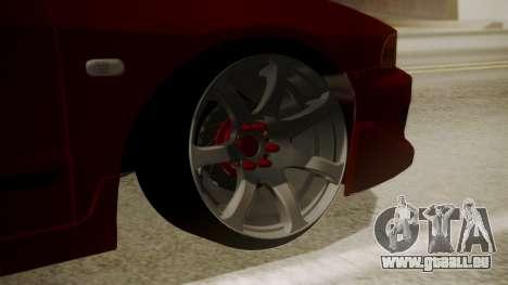 Mitsubishi Galant VR6 Stance pour GTA San Andreas sur la vue arrière gauche