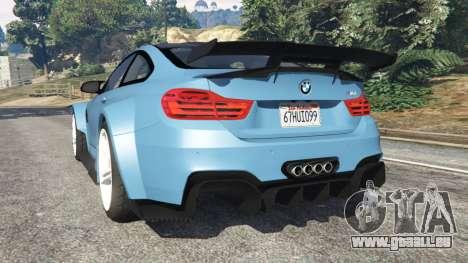GTA 5 BMW M4 (F82) WideBody hinten links Seitenansicht