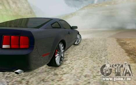 Ford Mustang GT 2005 für GTA San Andreas Rückansicht