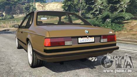 GTA 5 BMW M635 CSI (E24) 1986 arrière vue latérale gauche