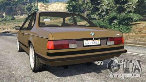 GTA 5 BMW M635 CSI (E24) 1986 hinten links Seitenansicht