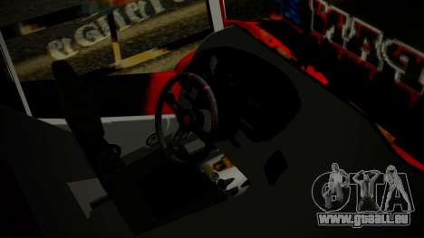 Bus Iron Man für GTA San Andreas rechten Ansicht