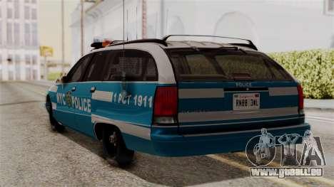 Chevy Caprice Station Wagon 1993-1996 NYPD pour GTA San Andreas laissé vue