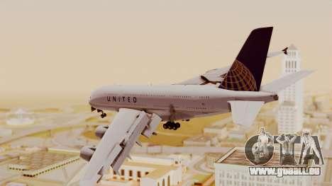 Airbus A380-800 United Airlines für GTA San Andreas linke Ansicht