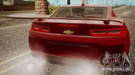 Chevrolet Camaro SS 2016 pour GTA San Andreas vue de droite