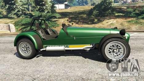 GTA 5 Caterham Super Seven 620R v1.5 [green] linke Seitenansicht
