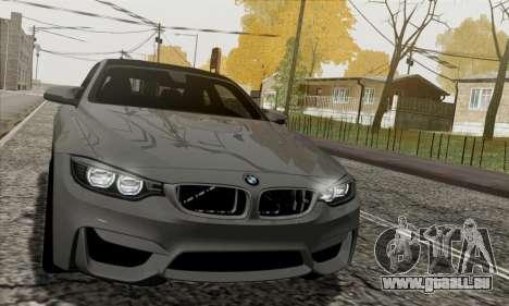 BMW M4 F82 pour GTA San Andreas vue intérieure