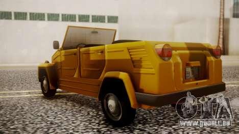 Volkswagen Safari Type 181 für GTA San Andreas linke Ansicht