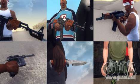 Realistic Weapons Pack pour GTA San Andreas