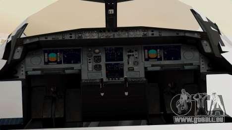 Airbus A380-800 United Airlines für GTA San Andreas Rückansicht