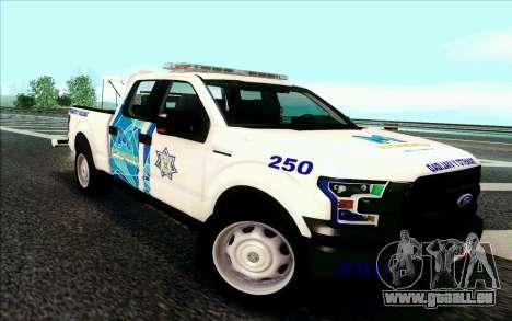 Ford F150 2015 Towtruck für GTA San Andreas linke Ansicht