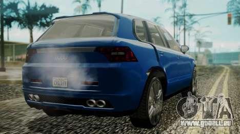 GTA 5 Obey Rocoto IVF pour GTA San Andreas laissé vue