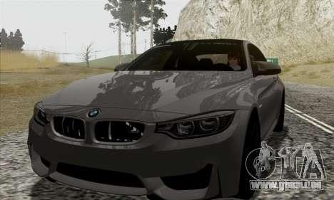 BMW M4 F82 pour GTA San Andreas vue de côté