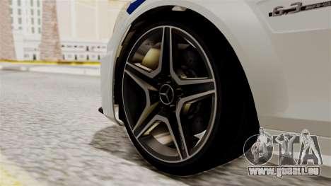 Mercedes-Benz C63 AMG STSI le Ministère de l'int pour GTA San Andreas sur la vue arrière gauche