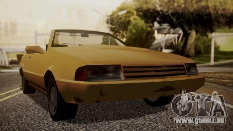 Cadrona Cabrio pour GTA San Andreas sur la vue arrière gauche